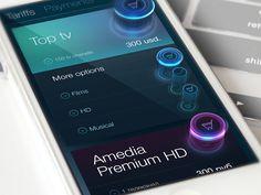 Nemo TV cabinet 3d button - by Nemo Telecom | #ui