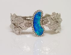 Mauro Felter white gold and opal bracelet.