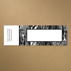 Woodgrain - Envelope Icing | KSW Exclusive Invitations