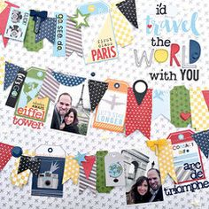 Project Ideas for Bella Blvd - Lets Go Collection - 12 x 12 Collection Kit
