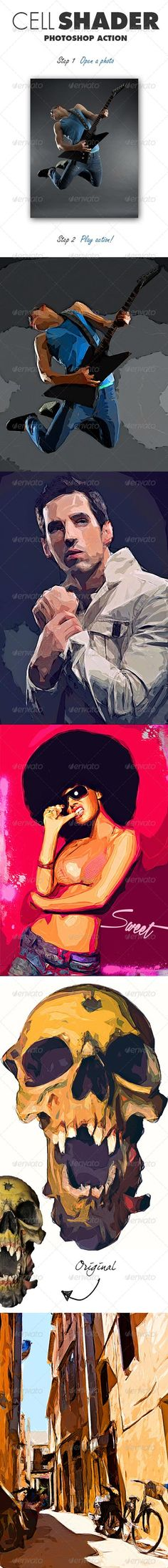 GraphicRiver Cell Shader Photoshop Action 7746847