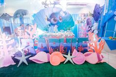 Under the Sea dessert table from a Finding Dory Under the Sea Birthday Party on Kara's Party Ideas | KarasPartyIdeas.com (12)
