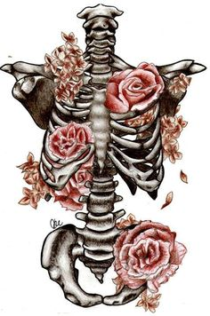 Find images and videos about vintage, flowers and draw on We Heart It - the app to get lost in what you love. Skeleton Drawings, Skeleton Art, Skeleton Tattoos, Art Sketches, Art Drawings, Skull Wallpaper, Medical Art, Heart Art, Skull Art