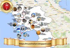 Gli articoli più letti nel 2018 su Musei Italiani tra Arte, Mostre e Musei Vari. Terra, Map, Art, Location Map, Maps