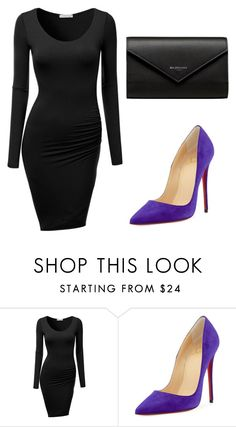 """Untitled #260"" by jovanaaxx on Polyvore featuring J.TOMSON, Christian Louboutin and Balenciaga"