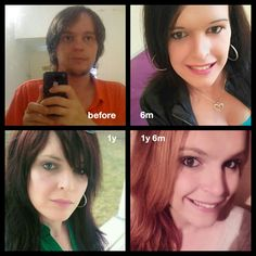 Post with 1810 views. Some faces of me, before and after my tranzition Male To Female Transition, Mtf Transition, Natural Hair Transitioning, Transitioning Hairstyles, Transgender Mtf, Transgender People, Mtf Hrt, Reese Witherspoon Hair, Mtf Before And After