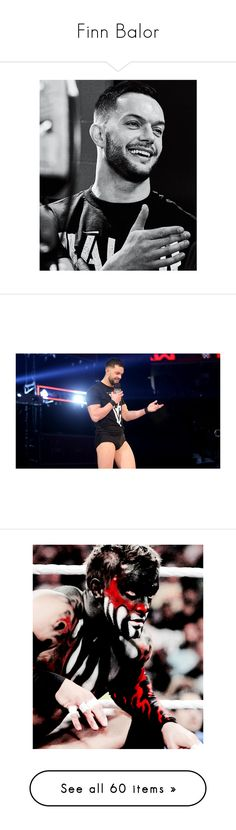 """Finn Balor"" by bvblunaticfringe on Polyvore featuring finn balor, wwe, finn, home, home decor, superstars, small item storage, jewelry, earrings and tops"