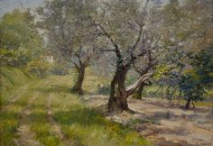 "William Merritt Chase, The Olive Grove, c. 1910 - Search results for ""olive painting"" - Wikimedia Commons Doctrine And Covenants, Shimmer Lights, Ancient Near East, Book Of Mormon, Old Master, Old Art, American Artists, Oil On Canvas, Old Things"