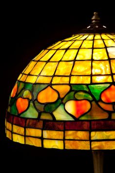 Classic simple acorn stained glass Tiffany lamp art by WPworkshop