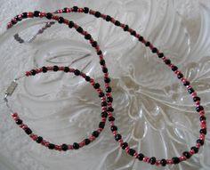 Original, Handmade Glass Beads with Barrel Clasp  Necklace Size - 17 1/2  Bracelet Size - 7