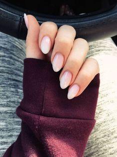 All white almond nails beautiful blush pink almond shape nails soft ombre nails in 2019 Almond Nails Designs, Pink Nail Designs, Short Nail Designs, Nail Designs Spring, Acrylic Nail Designs, Acrylic Nail Shapes, Nail Tip Shapes, Acrylic Nails Coffin Short, Almond Acrylic Nails