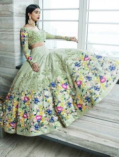 Jiofab have special collection of wedding and designer lehenga with best rates. Buy online lehenga with best quality in India,USA,UK,Canada and worldwide. Order this neeta lulla tafeta silk wedding designer lehenga for mehndi, sangeet and wedding. Indian Bridal Wear, Indian Wedding Outfits, Indian Outfits, Pakistani Bridal, Eid Outfits, Indian Clothes, Indian Wear, Fashion Outfits, Fashion Tips