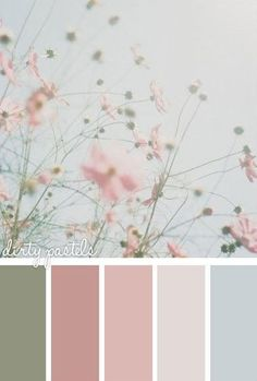 Nice shabby chic combo - good colors for shabby-chic painted rocks and stones #shabbychicbathroomscolors #shabbychicbathroomsdiy