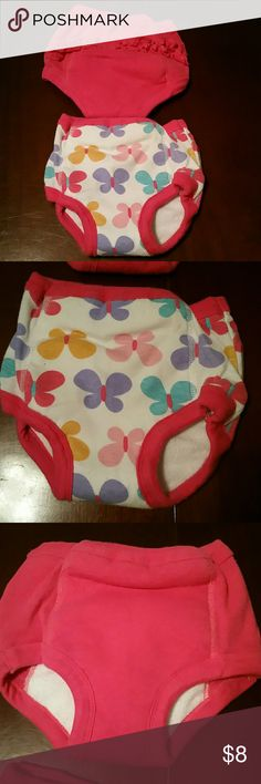 Training pants Girl training pants with plastic lining inside the fabric. Smoke and pet free home. Bundle with other listing and save more! Gerber Accessories Underwear