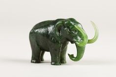 """Miniature mammoth of Siberia, 1900. Russia. The Metropolitan Museum of Art, New York. Gift of Heber R. Bishop, 1902(02.18.807)   This work is exhibited in the """"A Passion for Jade: The Heber Bishop Collection"""" exhibition, on view through June 19,"""