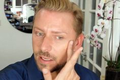 How to Look Less Tired in 1 Quick Step, YouTube makeup artist Wayne Goss shows you how to fake a good night's sleep with highigther