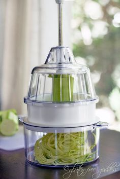 This little gadget makes raw angel hair pasta from zucchini! yowza!