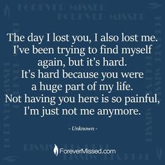 Someone once said that death is not the greatest loss in life. The greatest loss is what dies inside of us while we are still alive. Missing My Husband, I Miss My Mom, Grief Poems, Grieving Quotes, Heaven Quotes, Missing You Quotes, Miss You Mom Quotes, Loss Of A Loved One Quotes, Husband Quotes