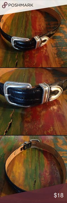 Ariat belt Smaller belt size 30 beautiful silver hardware pretty embossed black leather really nice handcrafted size 30 in good shape Ariat Accessories Belts