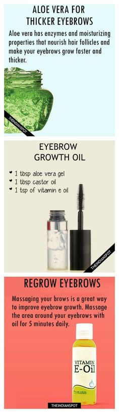 10 BEST HOME REMEDIES FOR FASTER EYEBROW GROWTH
