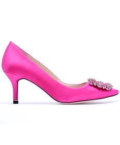 just enough to make them classic, but not enough to make them old lady. Rose Red High Heel Jewelled Spiked Shoes