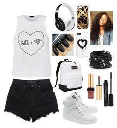 """""""Me + WIfi"""" by msbossqueen ❤ liked on Polyvore featuring Ally Fashion, Alexander Wang, Moschino, JanSport, Beats by Dr. Dre, Khristian A. Howell, Smashbox, Zero Gravity and Chico's"""