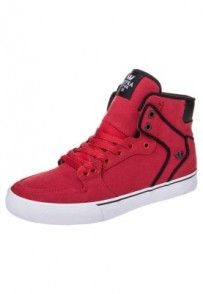 Supra VAIDER Tenisówki i Trampki wysokie czerwony High Tops, High Top Sneakers, Shoes, Shopping, Fashion, Moda, Zapatos, Shoes Outlet, Fashion Styles