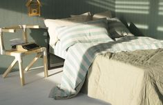Society Limonta.  The most gorgeous washed linen bedding, table linens, and accessories.  Colors are perfection.  Stores all over Europe.