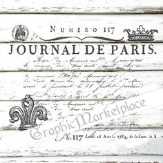 Journal de Paris French Transfer Instant by GraphicMarketplace
