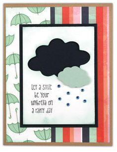 Rainy Day Cloud Card from the Crafts Direct Card Chaos for Everyday Moments event.