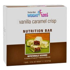 (7 bars per box) Vanilla Caramel Crisp Protein Bar has a great tasting combination of vanilla and cinnamon flavors with a yogurt coating. Complete with 15 grams of quality protein, 5 grams of dietary fiber and 17 essential vitamins and minerals, this is one taste treat that gives you what...