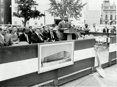 July 1968 ground-breaking ceremony for the Martin Luther King, Jr. Memorial Library