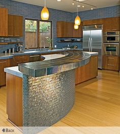 glass tiled bar front - Google Search