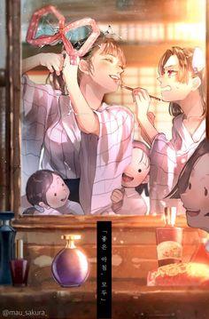 Kimetsu no Yaiba [Doujinshi] - Ảnh Kimetsu Anime Angel, Anime Demon, Manga Anime, All Anime, Anime Art, Demon Slayer, Slayer Anime, Anime Kunst, Anime Characters