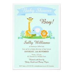 Safari Animals baby Shower Invitation 11 Cm X 16 Cm Invitation Card