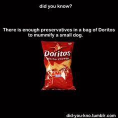 Don't eat doritos!