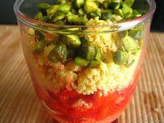 Tartare craquant de fraises et pistaches