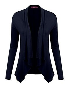 Doublju Lightweight Shawl Collar Draped Open Cardigan NAVY 2XL *** You can find out more details at the link of the image.Note:It is affiliate link to Amazon.