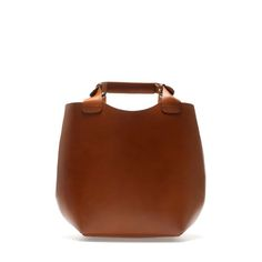 Mini Leather Tote Bag by Zara