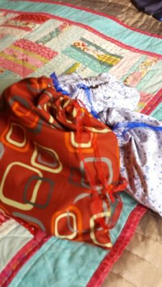 A trio of shoe bags for holiday suitcase