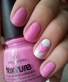 Love Pink And White Nails