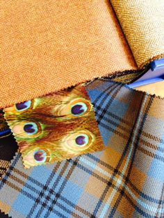 Bespoke collection: Our stunning peacock lining with clients choice of tartan for his trousers and tweed for his jacket and waistcoat.