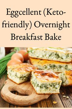 This eggcellent (keto-friendly overnight breakfast bake doesn't contain bread, is infinitely variable, and is prepared at night and cooked in the morning. Baked Breakfast Recipes, Breakfast Bake, Sausage Breakfast, Paleo Breakfast, Breakfast Casserole, Bhg Recipes, Diet Recipes, Healthy Recipes, Healthy Food