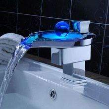 Dedicated 2018 Led Lamp Faucet Water Glow Automatically 3 Colors Changing Led Lamp Kitchen Bathroom Faucet Temperature Control Te Superior Performance Bathroom Sinks,faucets & Accessories