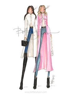 New York Fashion Week | Rachel Parcell - Pink Peonies | Emily Jackson - Ivory Lane | fashion illustration | Brittany Fuson