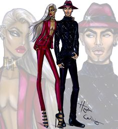 Hayden Williams Fashion Illustrations: 'Daredevils' by Hayden Williams