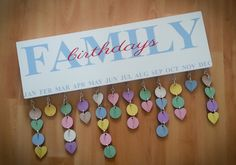 iMake family birthdays reminder plaque - never forget a birthday again!!!