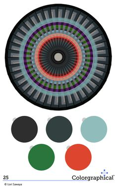 Awesome palette for an infographic.  Color Inspiration 25. Benjamin Moore #paint #colors with HEX codes.