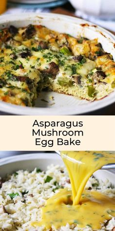 You Have Meals Poisoning More Normally Than You're Thinking That This Asparagus Mushroom Egg Bake Is Perfect For Brunch Or Breakfast It Can Be Prepared Overnight Make This Easy Egg Casserole Your Go-To Easter Or Mothers Day Recipe Easy Egg Casserole, Asparagus Casserole, Easy Casserole Recipes, Egg Recipes, Cooking Recipes, Easter Recipes, Easy Egg Bake, Spring Recipes, Delicious Breakfast Recipes