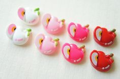 SALE 8 pcs Sliced Apple and a whole Apple Cabochon (17mm19mm) FR047 on Etsy, £2.19